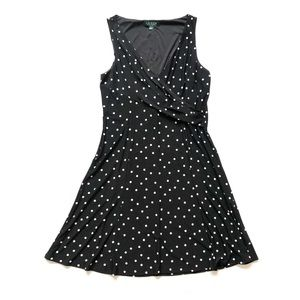 Ralph Lauren Polka Dot Stretch Swing Dress